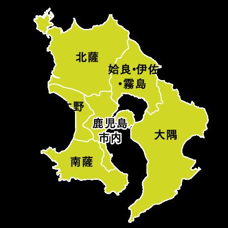 鹿児島県下マップ